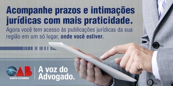 OAB/SC disponibiliza publicações jurídicas, gratuitamente, para advogados