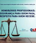 Campanha de valorização dos Honorários Profissionais
