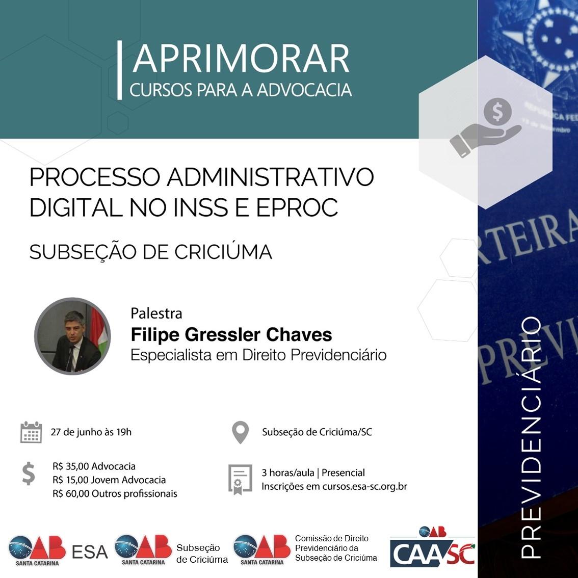 Processo Administrativo no INSS e Eproc - Criciúma.jpg